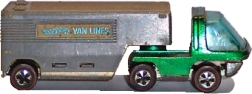 Hotwheels 1970 (Heavyweights) MOVING VAN,  redline, green spectraflame paint. Photo/Image (c)RMH 2006, all rights reserved.